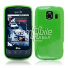 SOLID GREEN GLOSSY TPU CASE for LG OPTIMUS S
