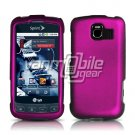ROSE PINK HARD RUBBERIZED CASE for LG OPTIMUS S