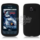 BLACK SOFT SILICONE SKIN CASE for LG OPTIMUS S