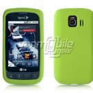 LIME GREEN SOFT SILICONE SKIN CASE for LG OPTIMUS S