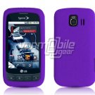 PURPLE SOFT SILICONE SKIN CASE for LG OPTIMUS S