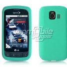 TURQUOISE SOFT SILICONE SKIN CASE for LG OPTIMUS S