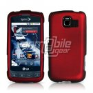 RED HARD RUBBERIZED CASE for LG OPTIMUS S