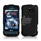 BLACK HARD RUBBERIZED CASE for LG OPTIMUS S