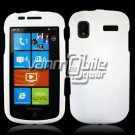 WHITE HARD RUBBERIZED CASE for SAMSUNG FOCUS i917