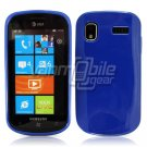SOLID BLUE GLOSSY TPU CASE for SAMSUNG FOCUS i917