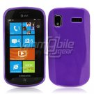 SOLID PURPLE GLOSSY TPU CASE for SAMSUNG FOCUS i917