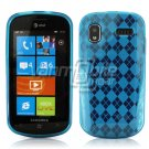 BLUE ARGYLE DESIGN TPU CASE for SAMSUNG FOCUS i917