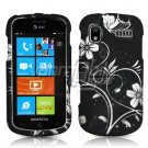 BLACK/WHITE FLOWERS RUBBERIZED DESIGN CASE for SAMSUNG FOCUS i917