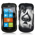 BLACK/SILVER ACE SKULL RUBBERIZED DESIGN CASE for SAMSUNG FOCUS i917