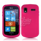 HOT PINK SOFT SILICONE SKIN CASE for SAMSUNG FOCUS i917