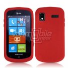RED SOFT SILICONE SKIN CASE for SAMSUNG FOCUS i917