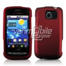RED HARD RUBBERIZED CASE for LG VORTEX