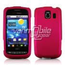 HOT PINK HARD RUBBERIZED CASE for LG VORTEX