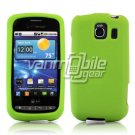 NEON GREEN SOFT SILICONE SKIN CASE for LG VORTEX