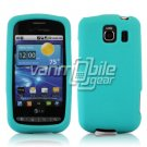 TURQUOISE SOFT SILICONE SKIN CASE for LG VORTEX