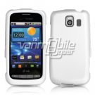WHITE HARD RUBBERIZED CASE for LG VORTEX