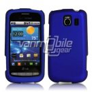 BLUE HARD RUBBERIZED CASE for LG VORTEX