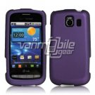 PURPLE HARD RUBBERIZED CASE for LG VORTEX