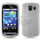 MILKY CLEAR SOFT SILICONE SKIN CASE for LG VORTEX