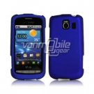 BLUE HARD RUBBERIZED CASE + Screen Protector + Car Charger for LG VORTEX