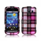 PINK PLAID DESIGN CASE + Screen Protector + Car Charger for LG VORTEX