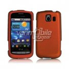 ORANGE HARD RUBBERIZED CASE + Car Charger for LG VORTEX