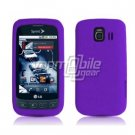 PURPLE SOFT SILICONE SKIN CASE + Screen Protector + Car Charger for LG OPTIMUS S