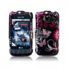 BLACK/PINK BUTTERFLY DESIGN CASE + Car Charger for LG OPTIMUS S