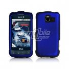 BLUE HARD RUBBERIZED CASE + Car Charger for LG OPTIMUS S