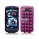 PINK ARGYLE DESIGN TPU CASE + Screen Protector + Car Charger for LG OPTIMUS S