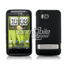 BLACK RUBBERIZED CASE + Screen Protector + CAR CHARGER for HTC THUNDERBOLT