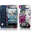 HTC Evo Shift 4G Pink Lotus Design Hard 2-pc Plastic Case + Screen Protector