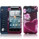 HTC Evo Shift 4G Pink Hearts/Flowers Design Hard 2-pc Plastic Case + Screen Protector