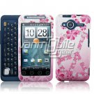 HTC Evo Shift 4G Pink Peace Design Hard 2-pc Plastic Case + Screen Protector + Car Charger