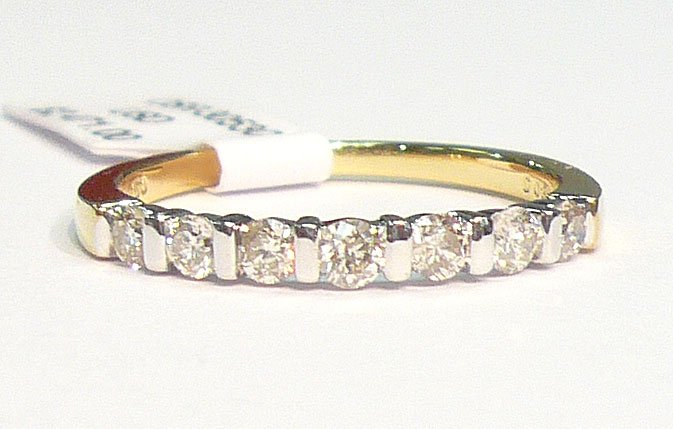 18K Yellow Gold 0.38cts. Diamond Wedding Band