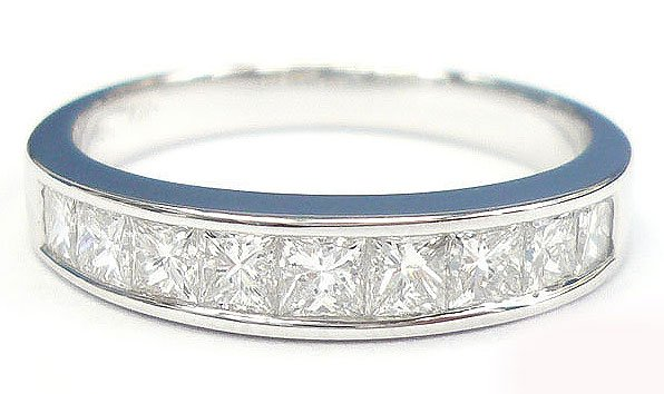 18K White Gold 0.52cts. Diamond Wedding Band