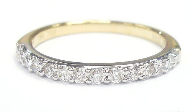 18K Yellow Gold 0.32cts. Diamond Wedding Band