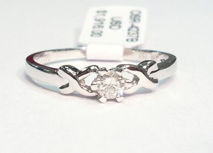 18K White Gold 0.12cts. Diamond Solitare Ring