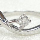 18K White Gold 0.10cts. Diamond Solitare Ring