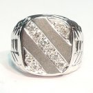 18K White Gold 0.36cts. Diamond Men's Ring