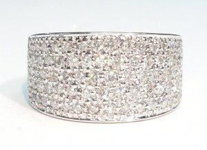 18K White Gold 1.01cts Diamond Ring