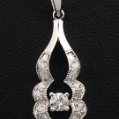 18K White Gold 0.30cts Diamond Pendant