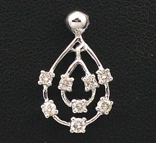 18K White Gold 0.24cts Diamond Pendant