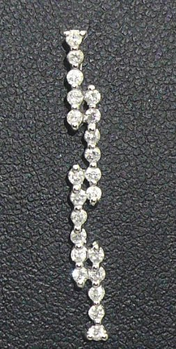 9K White Gold 0.30cts. Diamond Pendant