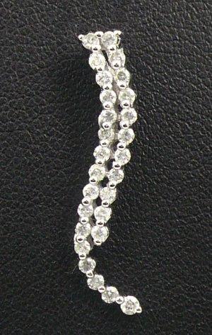 9K White Gold 0.36cts Diamond Pendant
