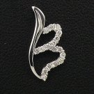 18K White Gold 0.15cts. Diamond Pendant