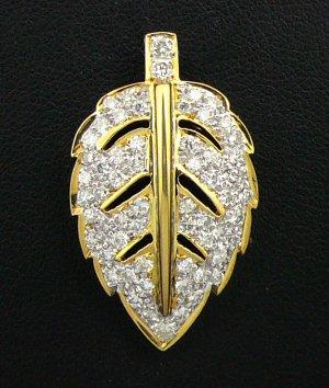 18K White & Yellow Gold 1.10cts Diamond Pendant