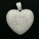 18K White Gold 2.56cts. Diamond Pendant
