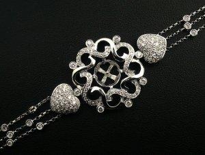 18K White Gold 2.07cts Diamond Bracelet